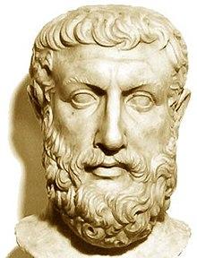 Mezzo busto di Parmenide